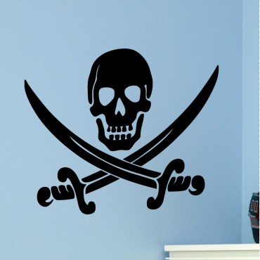 Sticker crâne et épées - stickers pirates & stickers enfant - fanastick.com