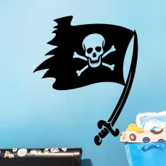 Sticker drapeau pirate