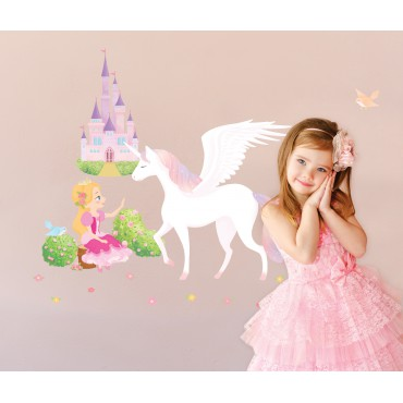 Sticker Princesse, Licorne et Château - stickers princesse & stickers enfant - fanastick.com