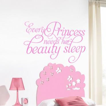 Sticker Every princess need her Beauty sleep - stickers princesse & stickers enfant - fanastick.com