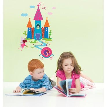 Sticker château et princesse - stickers princesse & stickers enfant - fanastick.com
