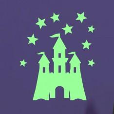 Sticker phosphorescent château