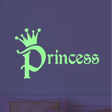 Sticker phosphorescent princesse - stickers princesse & stickers enfant - fanastick.com