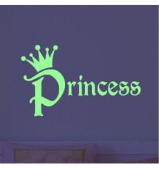 Sticker phosphorescent princesse