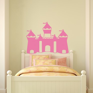 Sticker Tête de lit château de princesse - stickers princesse & stickers enfant - fanastick.com