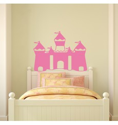 Sticker Tête de lit château de princesse