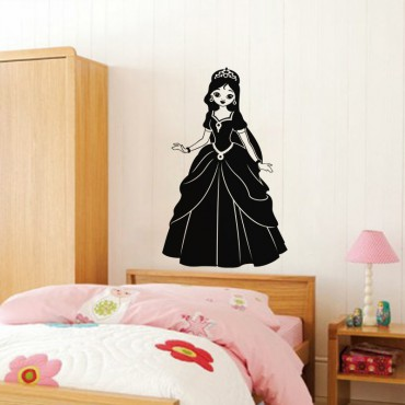Sticker Silhouette jeune princesse - stickers princesse & stickers enfant - fanastick.com