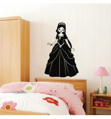 Sticker Silhouette jeune princesse