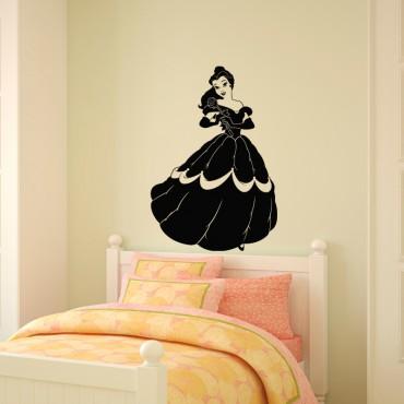 Sticker Jeune fille avec une rose - stickers princesse & stickers enfant - fanastick.com