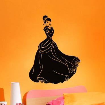 Sticker Femme avec une jolie robe - stickers princesse & stickers enfant - fanastick.com