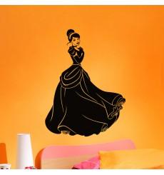 Sticker Femme avec une jolie robe