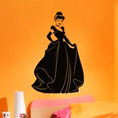 Sticker Silhouette princesse