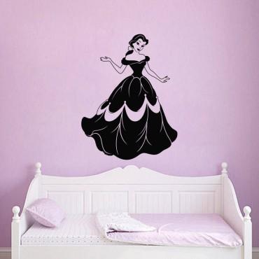 Sticker Silhouette Belle - stickers princesse & stickers enfant - fanastick.com