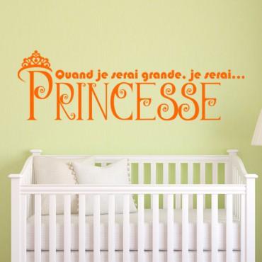Sticker Je serai princesse - stickers princesse & stickers enfant - fanastick.com