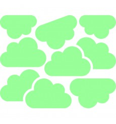 Sticker phosphorescent nuages