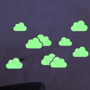 Sticker phosphorescent nuages - stickers nuages & stickers enfant - fanastick.com