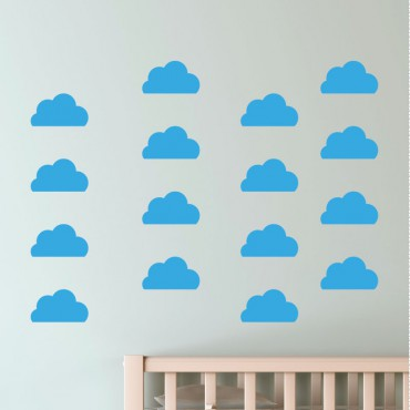 Sticker 30 nuages - stickers nuages & stickers enfant - fanastick.com