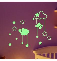 Sticker Phosphorescent nuages et les étoiles