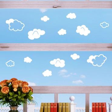 Sticker électrostatiques nuages - stickers nuages & stickers enfant - fanastick.com