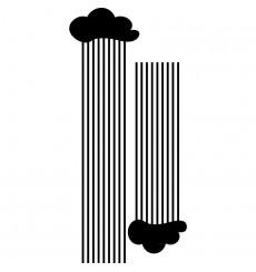 Sticker Nuages pluvieux