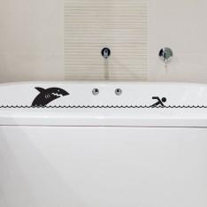 Sticker Baignoire requin