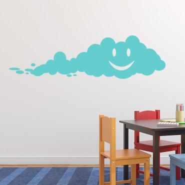 Sticker Nuage heureux - stickers nuages & stickers enfant - fanastick.com