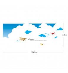 Sticker Muraux Avions dans les Nuages