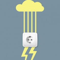 Sticker La pluie se transforme en un éclair