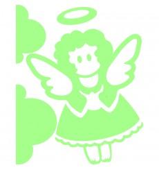 Sticker enfant ange phosphorescents