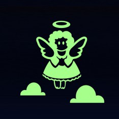 Sticker enfant ange phosphorescents