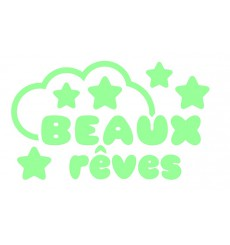 Sticker phosphorescent doux rêves 2