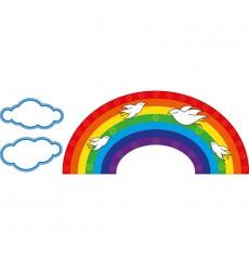 Sticker Arc-en-ciel et Oiseaux