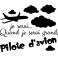 Sticker Quand je serai grand - stickers chambre garçon & stickers enfant - fanastick.com