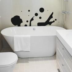 Sticker Femme dans son bain