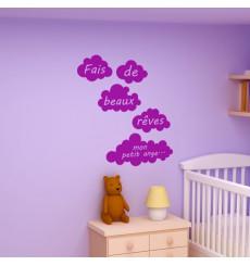 Sticker Fais de beaux rêves mon petit ange