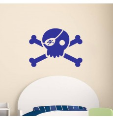 Sticker Tête de mort pirate