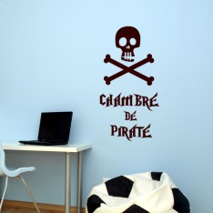 Sticker Chambre pirate