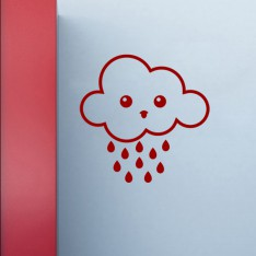 Sticker nuage triste