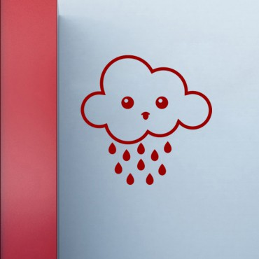 Sticker nuage triste - stickers nuages & stickers enfant - fanastick.com