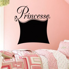 Sticker ardoise princesse
