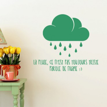 Sticker Parole de nuage - stickers nuages & stickers enfant - fanastick.com