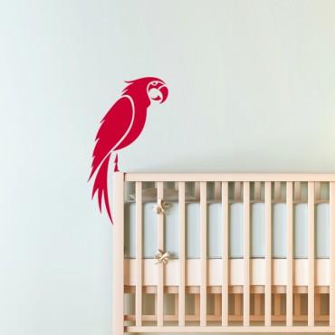 Sticker perroquet perché - stickers oiseaux & stickers muraux - fanastick.com
