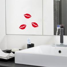 Sticker Traces de rouge à lèvres