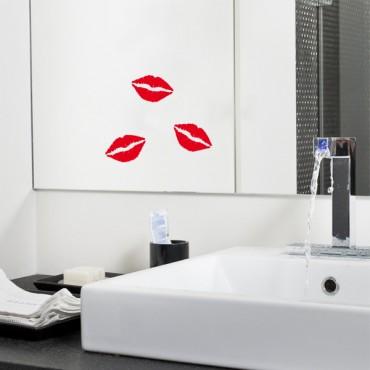 Sticker Traces de rouge à lèvres - stickers salle de bain & stickers muraux - fanastick.com