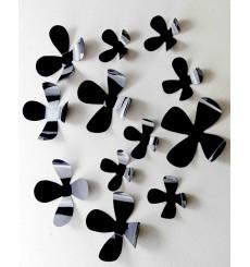 Sticker Kit de 12 Stickers fleurs 3D - Couleur au choix