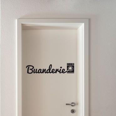 Sticker Buanderie - stickers porte & stickers deco - fanastick.com