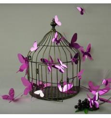 Sticker Kit de 12 Stickers papillons 3D miroirs - Couleur au choix