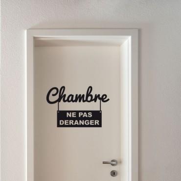 Sticker Chambre ne pas déranger - stickers porte & stickers deco - fanastick.com