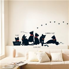Sticker Chats noirs