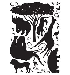 Sticker animaux d'Afrique
